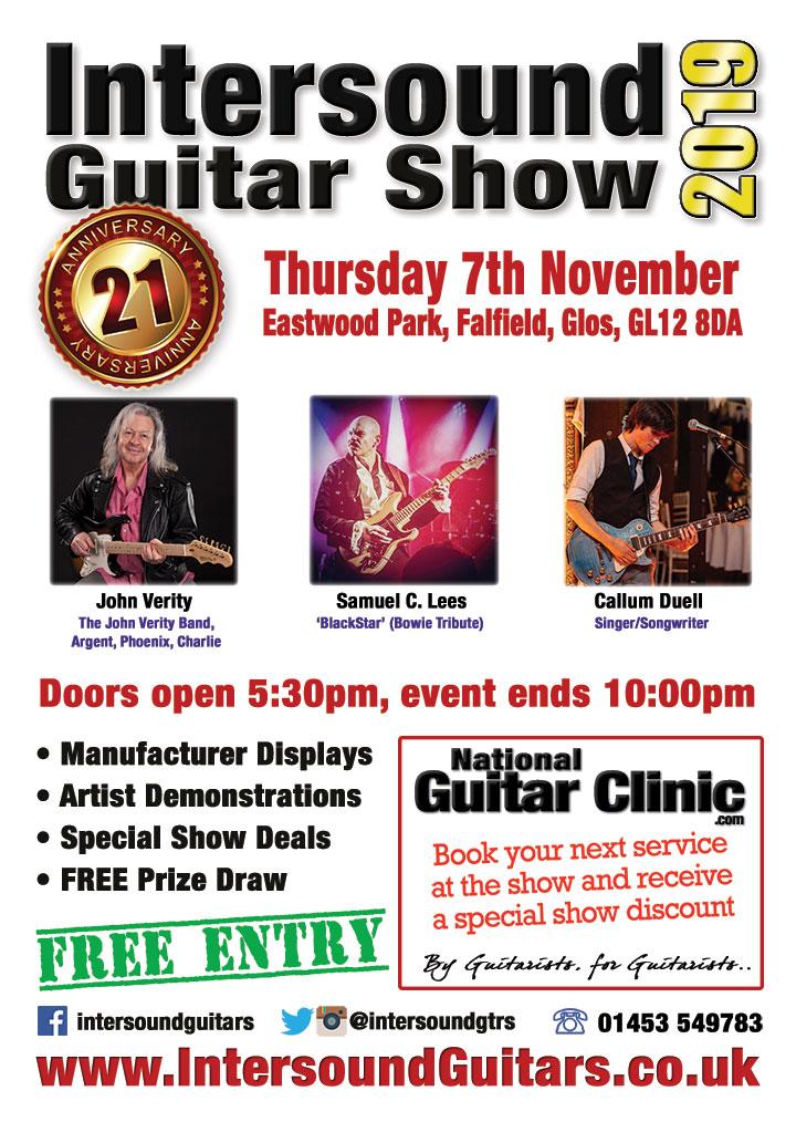 Intersound Guitar Show Flyer 2019