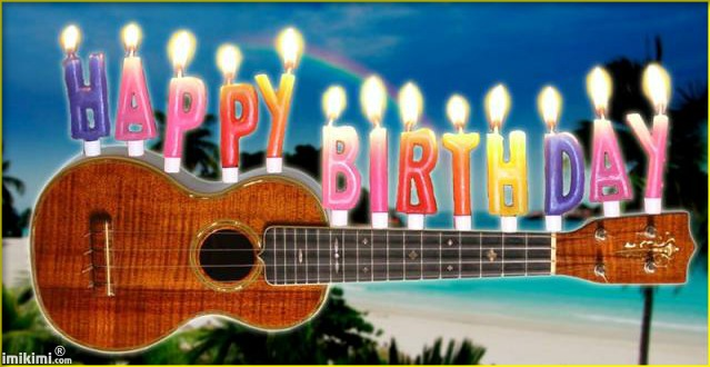 Guitar with Birthday Candles